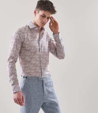 Reiss DAPPLE LIBERTY PRINT SLIM-FIT SHIRT Soft Pink