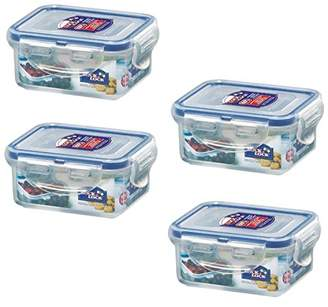 Lock & Lock (Pack of 4 Airtight Rectangular Food Storage Container 6-oz / 0.76-cup