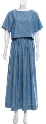 Chloé Chambray Maxi Dress