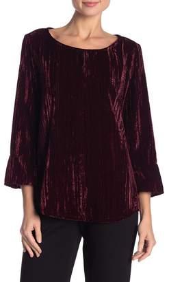 Foxcroft Korin Textured Velvet Blouse
