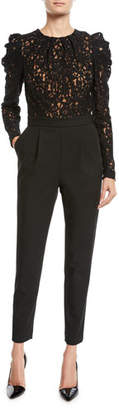 MICHAEL Michael Kors Lace-Top Crepe Jumpsuit