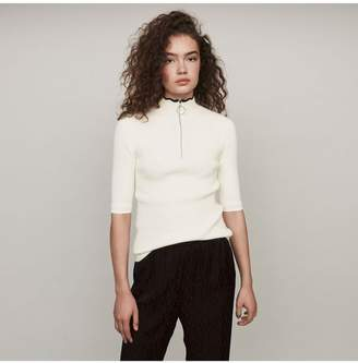 Maje Zipped Light Polo Sweater