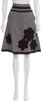 Magaschoni Tweed Herringbone Skirt