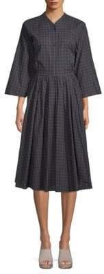 Tome Checkered Cotton Shirtdress