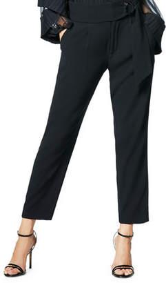 Ramy Brook Hudson Belted Straight-Leg Pants