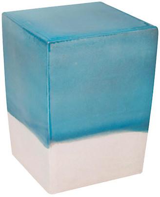 Tacitus Square Cube Stool - Turquoise - Seasonal Living