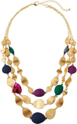 Fragments for Neiman Marcus Triple-Strand Stone & Metal Necklace