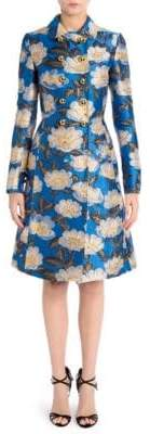 Dolce & Gabbana Floral Jacquard Fitted Coat