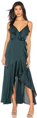Shona Joy Luxe Bias Frill Wrap Dress