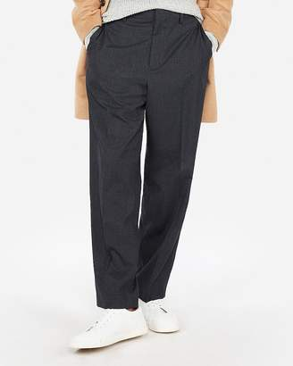 Express Dark Navy Microcheck Wide Leg Dress Pant