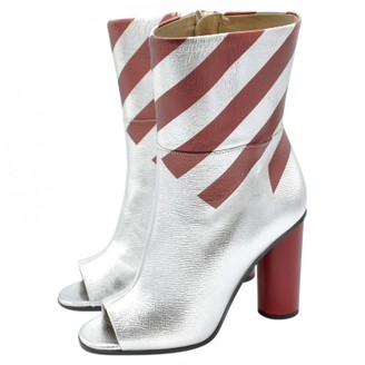 Anya Hindmarch Silver Leather Boots