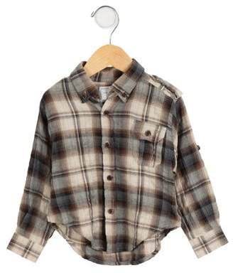 Marie Chantal Boys' Plaid Button-Up Shirt w/ Tags