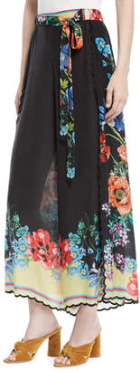 Johnny Was Peonies Wrapped Printed Pants, Plus Size
