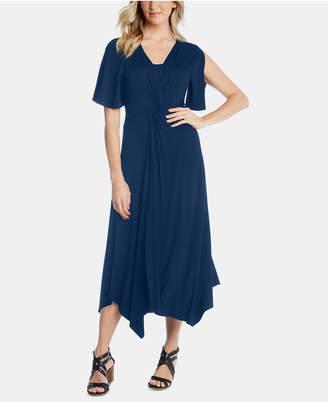 Karen Kane Asymmetrical Twist-Front Dress