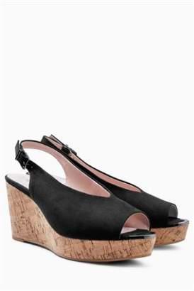 fe5b037f0c0 Black Cork Wedge Sandals For Women - ShopStyle UK