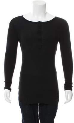Ann Demeulemeester Long Sleeve Henley T-Shirt