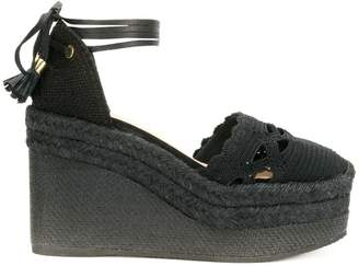 Castaner Iris crocheted espadrille wedges