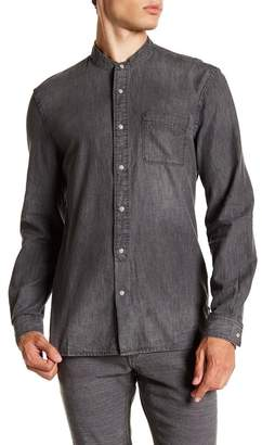 John Varvatos Star USA Band Collar Shirt