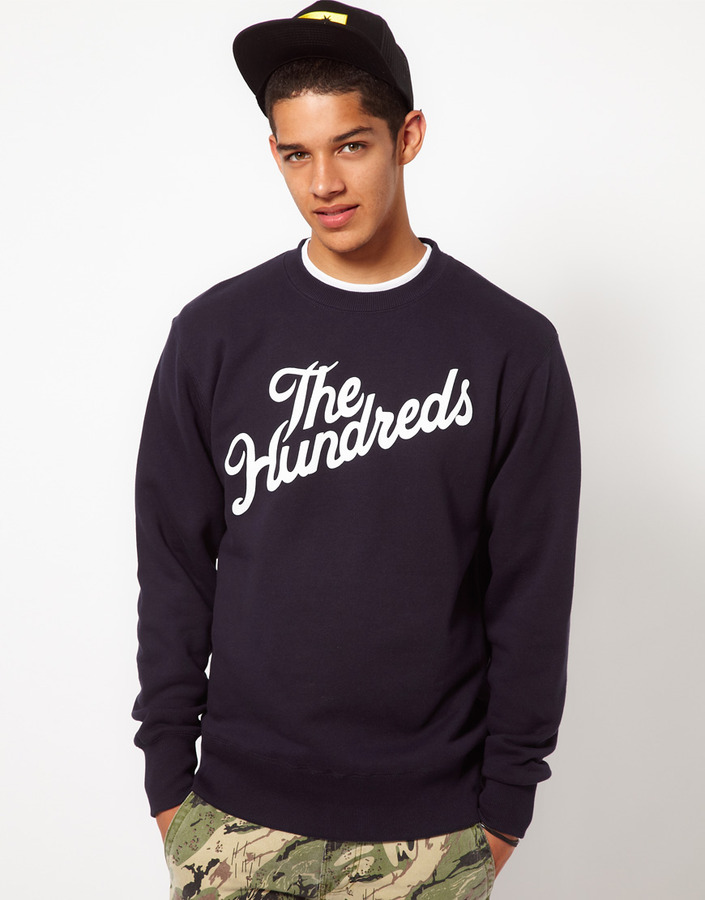 The Hundreds Sweatshirt Forever Slant Crew Neck