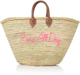 Poolside Shorty Embroidered Straw Tote $175 thestylecure.com