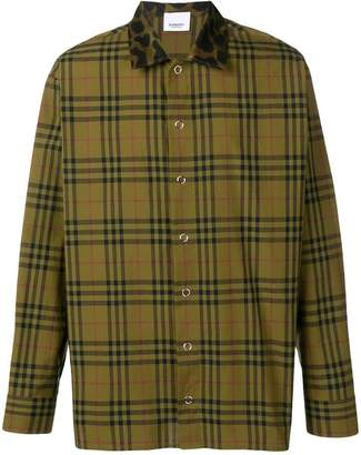 Burberry contrast collar vintage check shirt
