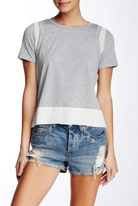 TOV Woven Inset Tee
