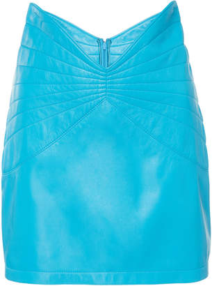 ATTICO Leather Mini Skirt