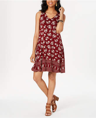 Style&Co. Style & Co Printed Cross-Back Dress