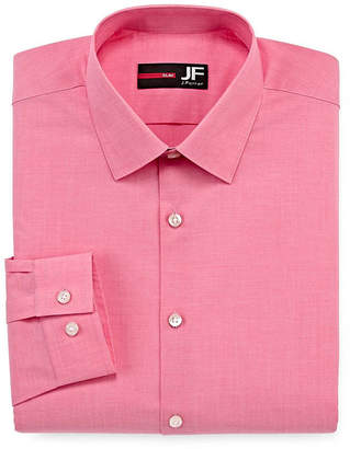 Jf J.Ferrar Easy-Care Stretch-Big And Tall Mens Spread Collar Long Sleeve Stretch Dress Shirt