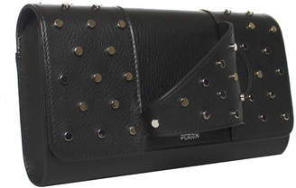 Perrin Paris L Asymetrique Leather Clutch Bag