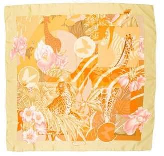 Salvatore Ferragamo Printed Silk Scarf
