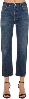 RE/DONE Re Done Levi's Hi Rise Straight Leg Denim Jeans