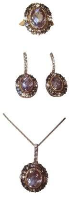 LeVian 14K Rose Gold Amethyst, Sapphire & Quartz Earrings, Ring & Necklace Set