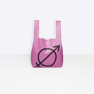 Balenciaga All gender printed leather shopping bag
