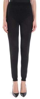Moschino High-Waist Lurex Leggings