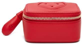 Anya Hindmarch Chubby Heart Leather Keepsake Box - Womens - Red