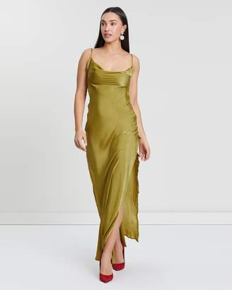 Missguided Satin Cowl Maxi Dress