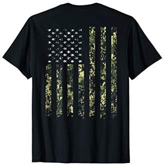 Outdoors Camo American Flag T shirt