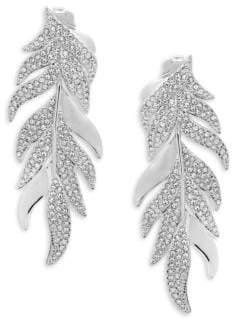 Adriana Orsini Mday Pavé Leaf Earrings
