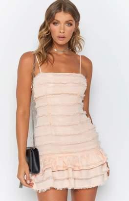 Beginning Boutique Prohibition Fringe Dress Pink