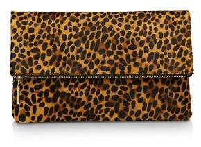 Whistles Chapel Large Leopard Foldover Clutch
