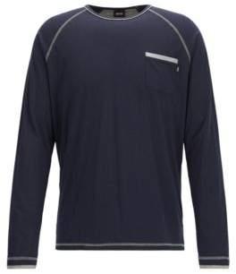 BOSS Hugo Jersey Long Sleeve T-Shirt Balance LS Shirt RN M Dark Blue