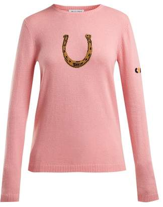 Bella Freud Horseshoe Cashmere Blend Sweater - Womens - Pink