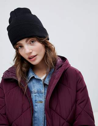 03f4baec7 Asos Design DESIGN turn up beanie in recycled polyester