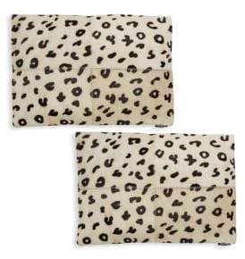 Safavieh Leopard Print Leather Pillow Set