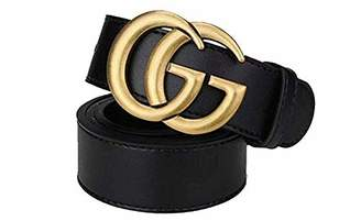 G.G.G. Fashion G-Style Black Instagram hot Leather Belt