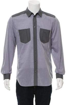 Maison Margiela Woven Button-Up Shirt
