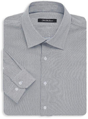 Saks Fifth Avenue Black Birds-Eye Dress Shirt