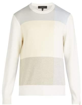 Rag & Bone - Mitch Jacquard Knit Cotton Blend Sweater - Mens - White Multi
