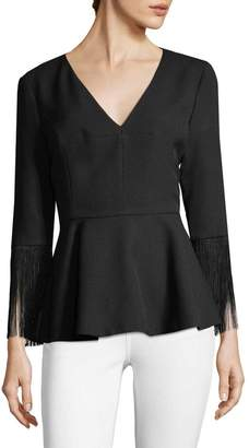 Prabal Gurung Women's Fringe-Trimmed Blouse